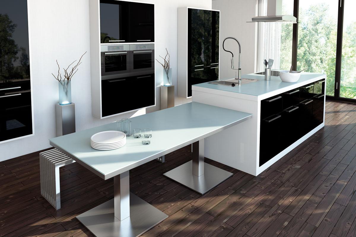 k chenr ckw nde arbeitsplatten glas ritter ergolding. Black Bedroom Furniture Sets. Home Design Ideas